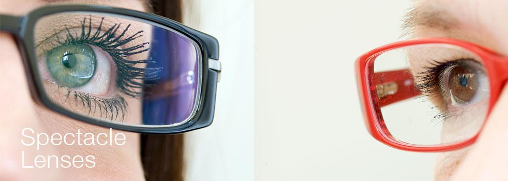 black & orange spectacle lenses